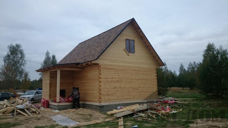 Строительство дома 8 на 9 в Ногинском районе. Фото 9