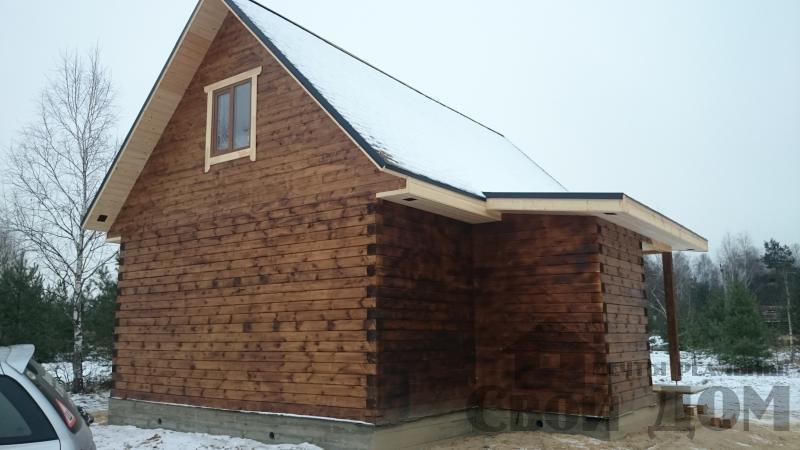 Строительство дома 8 на 9 в Ногинском районе. Фото 1