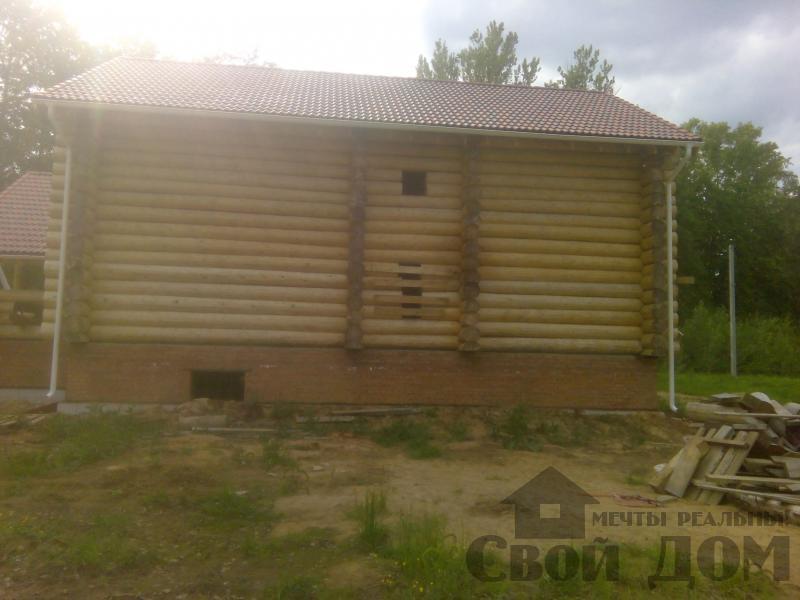 Возведение сруба 8 на 10 м в Ярославле. Фото 11