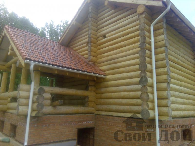 Возведение сруба 8 на 10 м в Ярославле. Фото 5