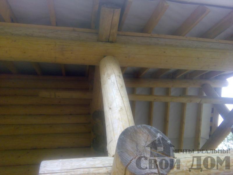 Возведение сруба 8 на 10 м в Ярославле. Фото 9