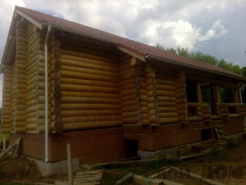 Возведение сруба 8 на 10 м в Ярославле. Фото 10