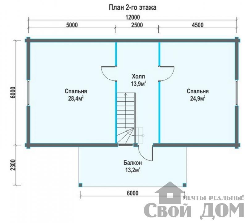БРУС - 9. Дом 6*12 м