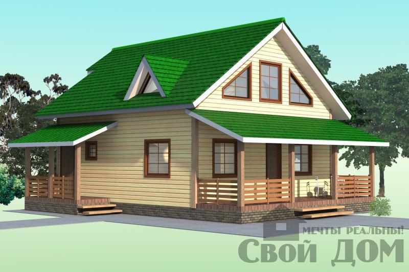 БРУС - 37. Дом 9,5*10 м