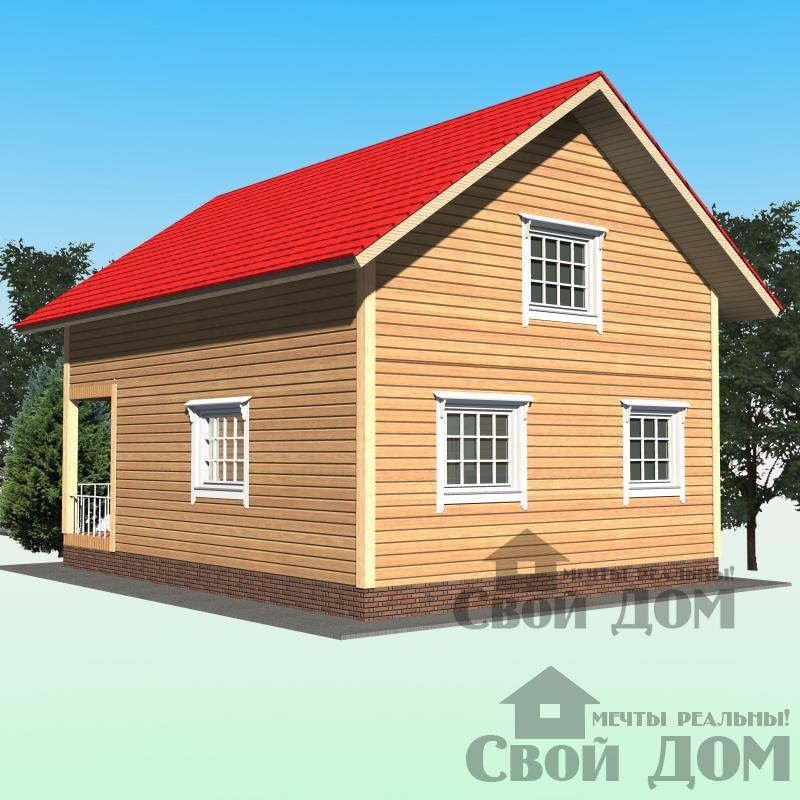 БРУС - 41. Дом 7*9 м