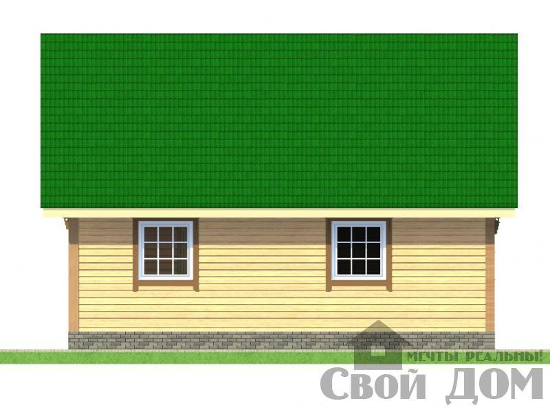 БРУС - 12. Дом 8*9 м