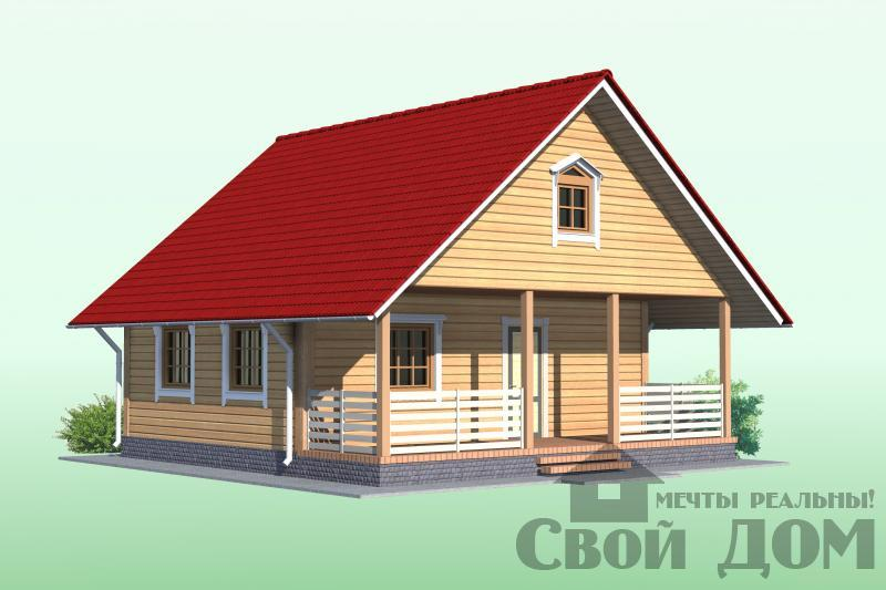 БРУС - 24. Дом 8*8 м
