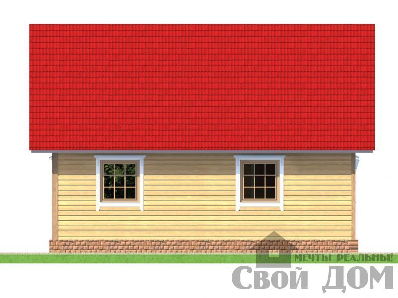 БРУС - 1. Дом 6*9 м